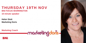 10 Minute Speaker – Helen Stott – 19th November