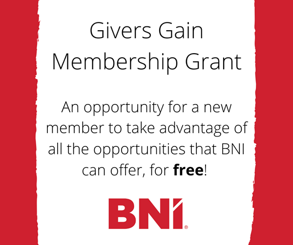 FREE One-year BNI Membership